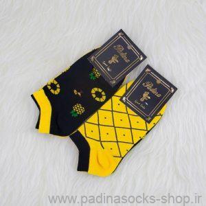 خرید اینترنتی جوراب زنانه طرح آناناس