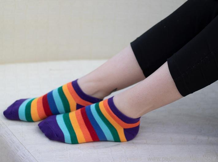 پک جوراب رنگین کمان بنفش